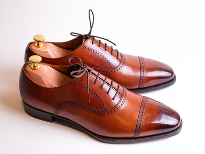 Ringo Punched Cap-Toe Oxfords
