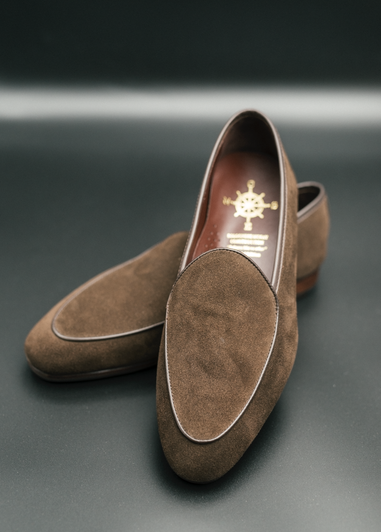 BLW Belgian Loafers (Dark Brown Suede)