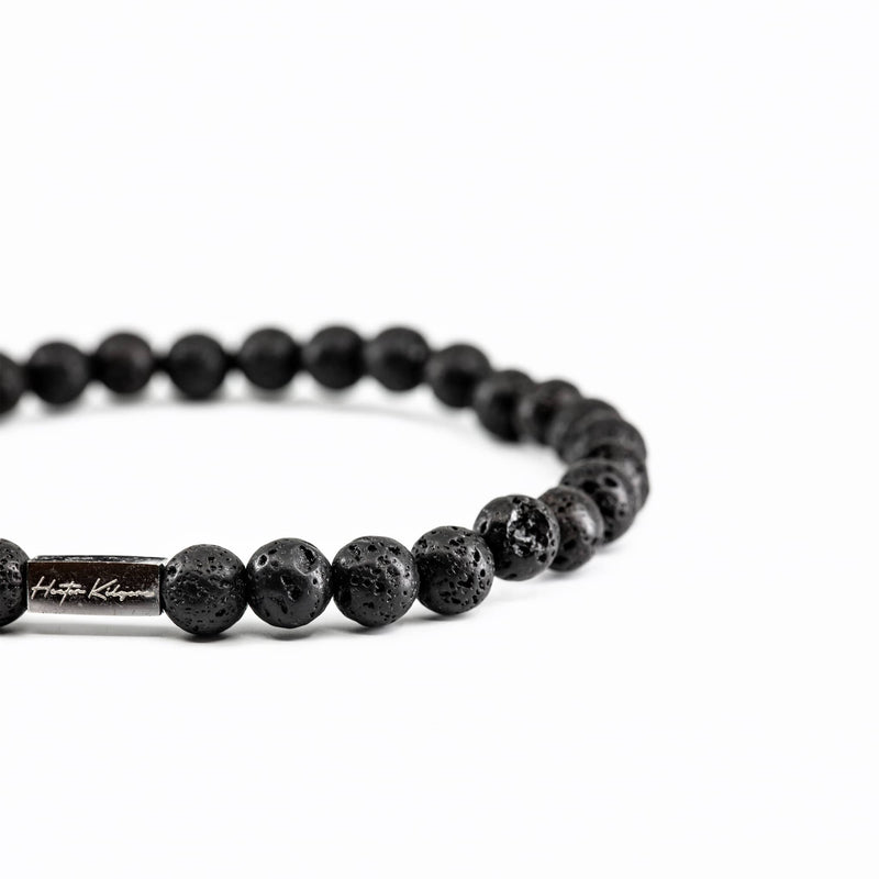 Mens and Womens Lava Rock beaded bracelet