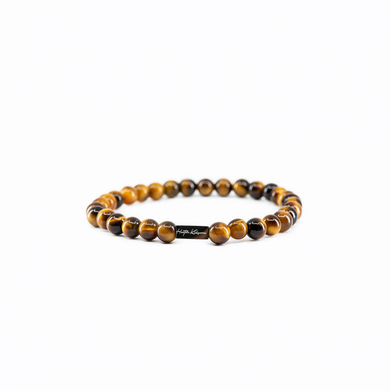 Mens and womens tiger eye beaded bracelet