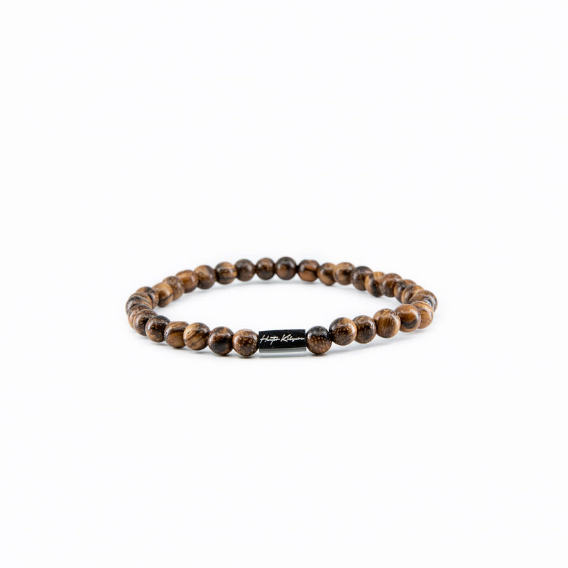 Mens and Womens Wood beaded bracelet