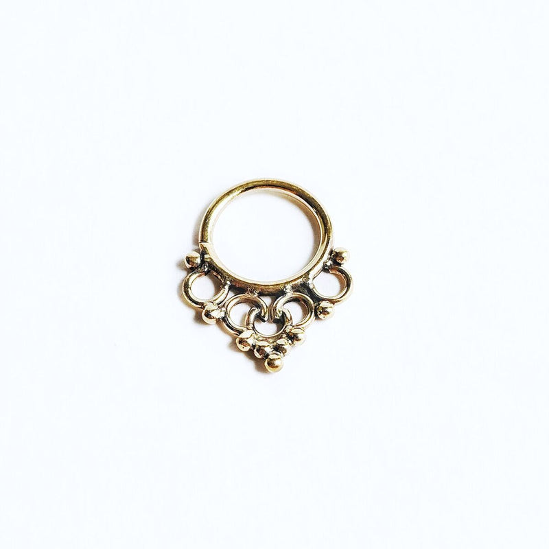 Brass Detailed Septum Ring