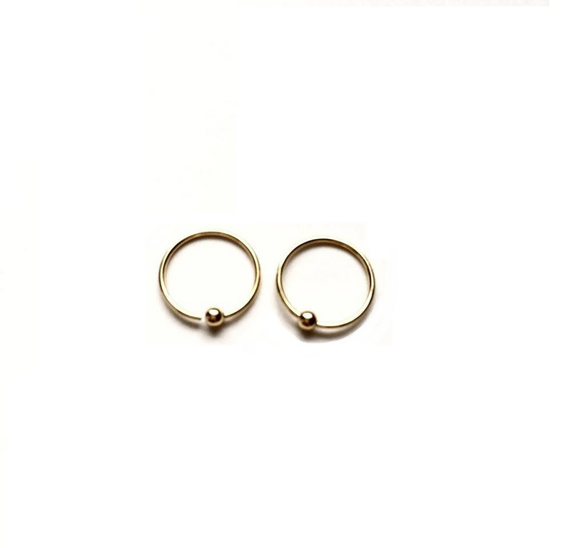 Gold Plated Sterling Silver 10mm Hoops