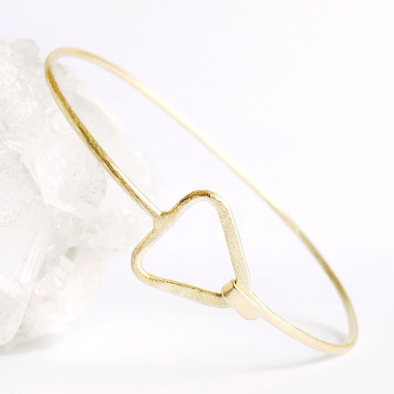 Brass Triangle Bangle