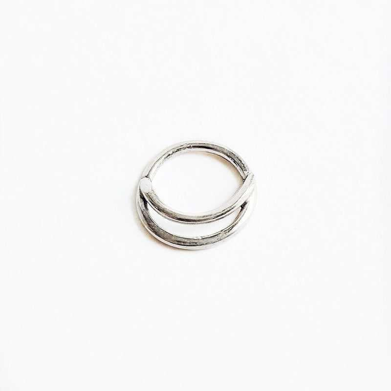 Sterling Silver Double Layer Septum Ring