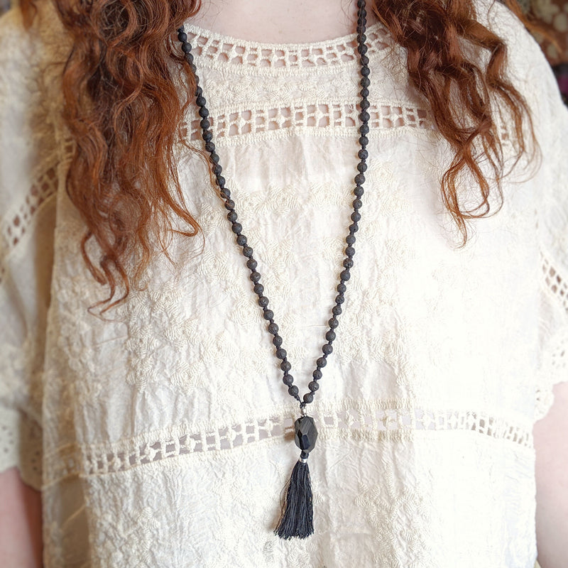 Lava Stone Mala Necklace