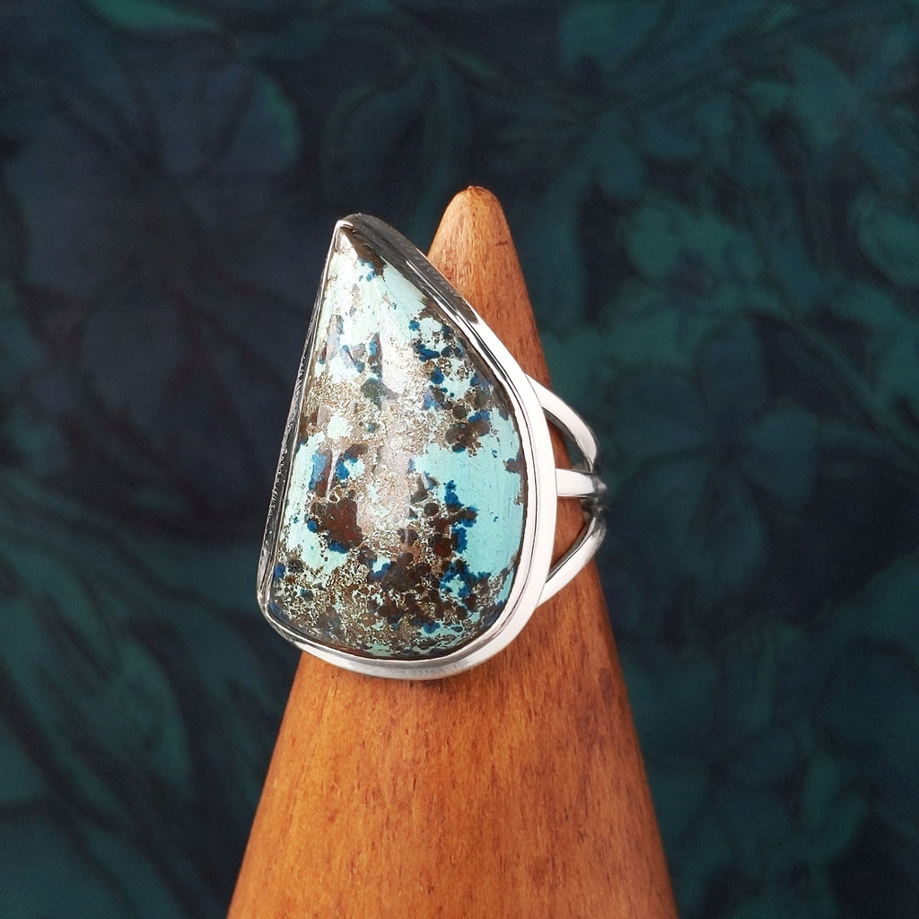 Sterling Silver Azurite Stone Ring