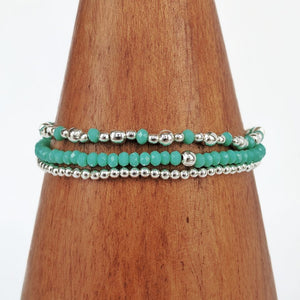 3-in-1 Turquoise Beaded Bracelet