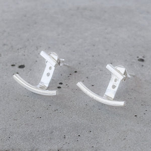 Sterling Silver Ear Jacket Studs