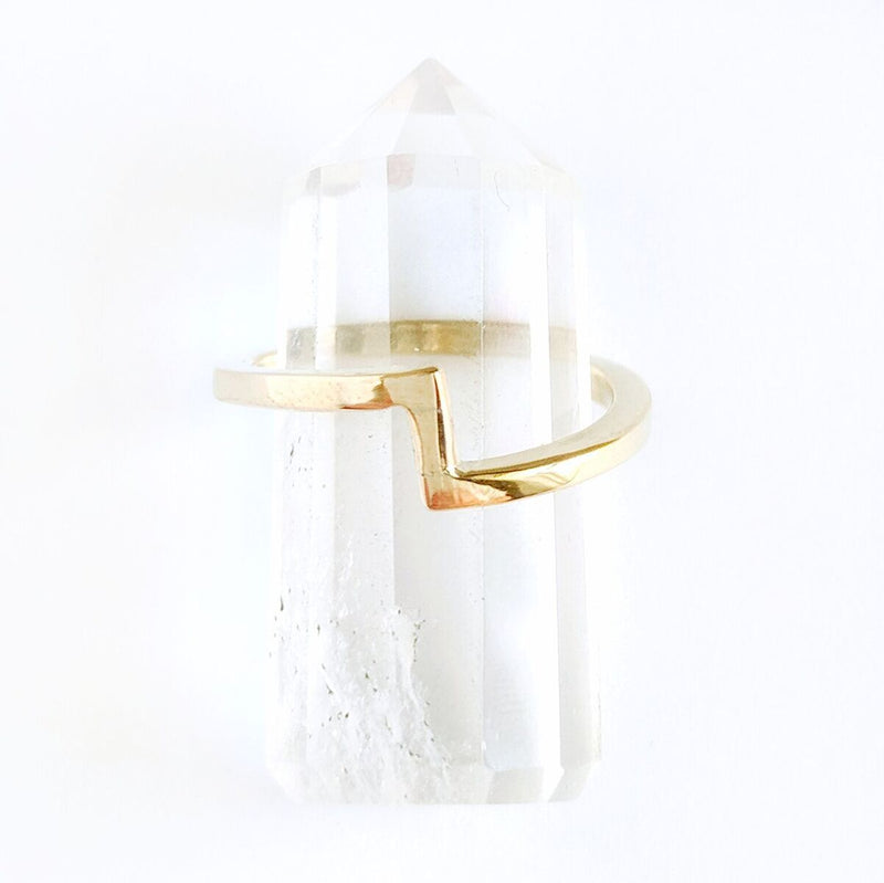 Brass Jagged Ring