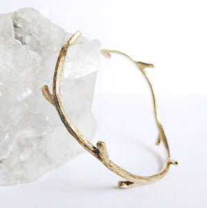 Brass Branch Bangle