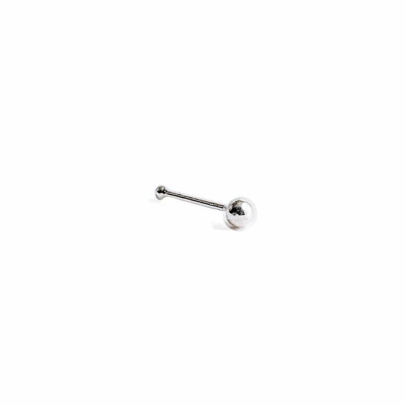 Sterling Silver Ball Back Nose Stud