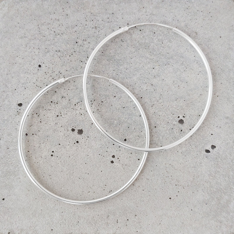 Classic Sterling Silver Hoops