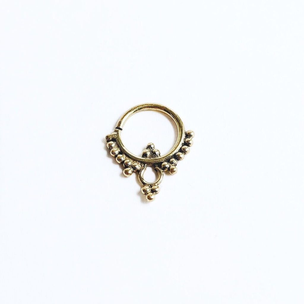 Brass Dotted Septum Ring