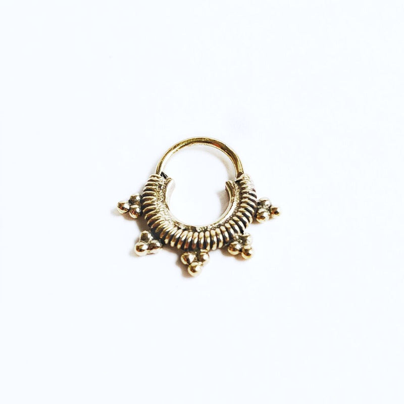 Brass Sun Ray Septum Ring