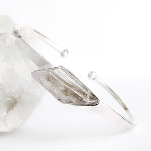 Silver Plated Crystal Bangle