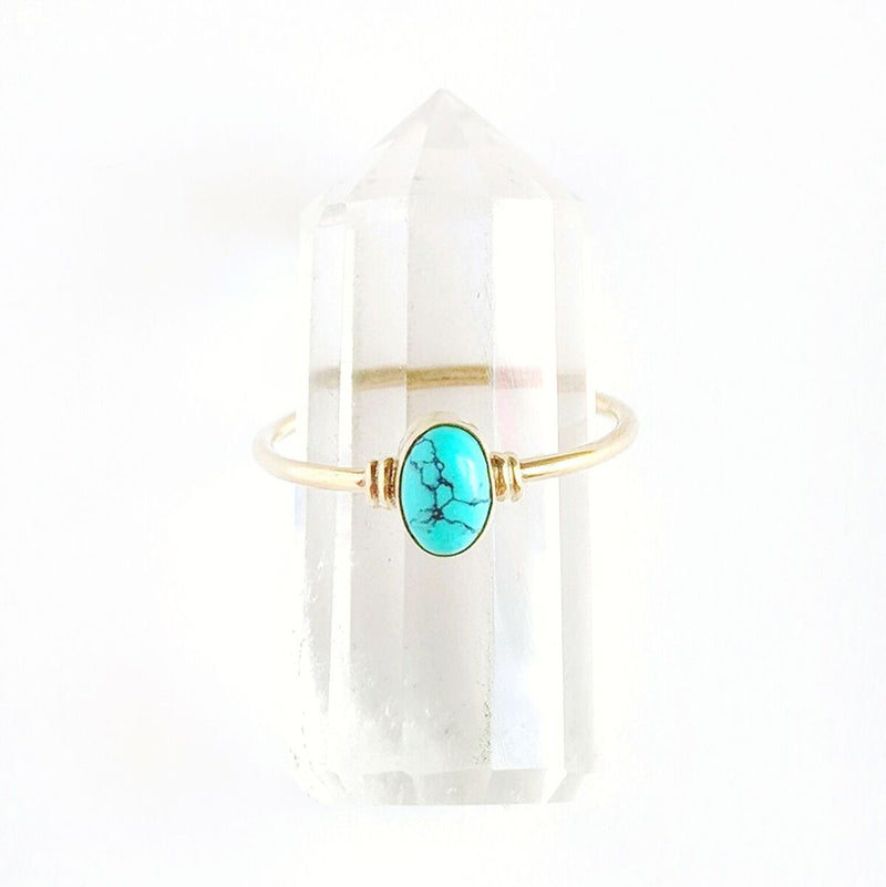 Brass Turquoise Ring