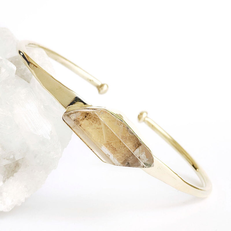 Brass Crystal Bangle