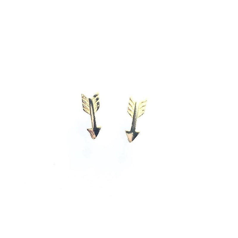 Gold Plated Sterling Silver Arrow Studs