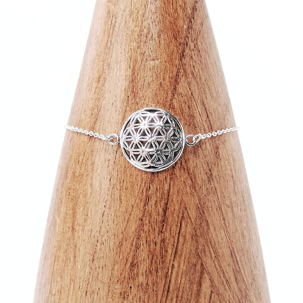 Sterling Silver Flower of Life Bracelet
