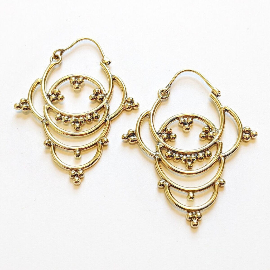 Brass Ornamental Earrings