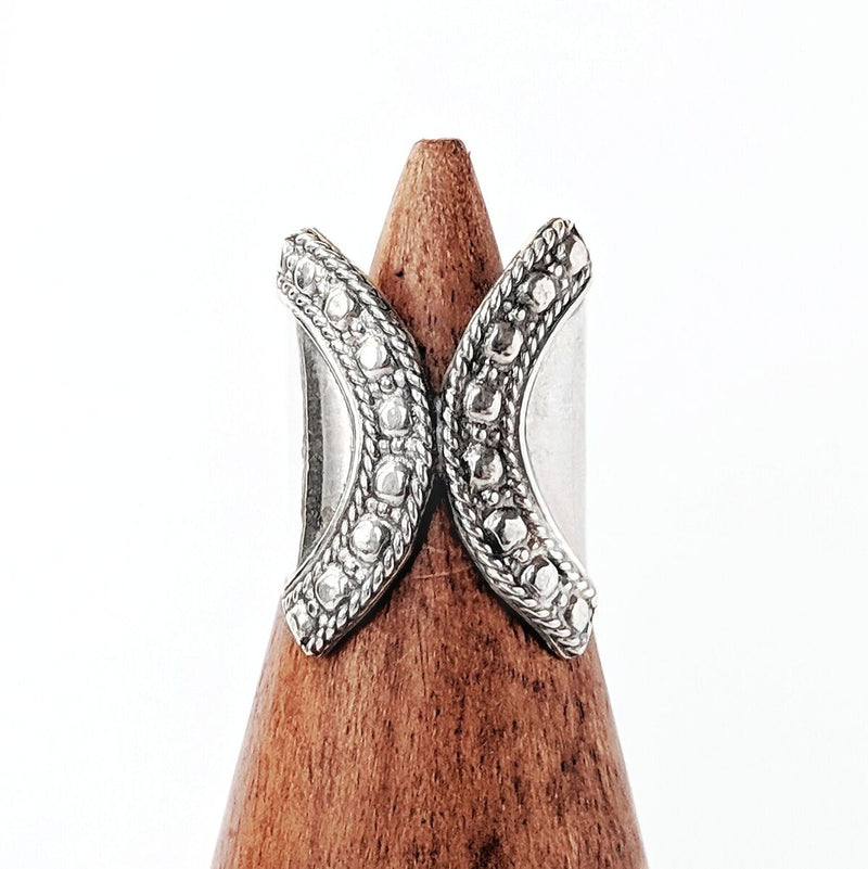Detailed Sterling Silver Wrap Ring
