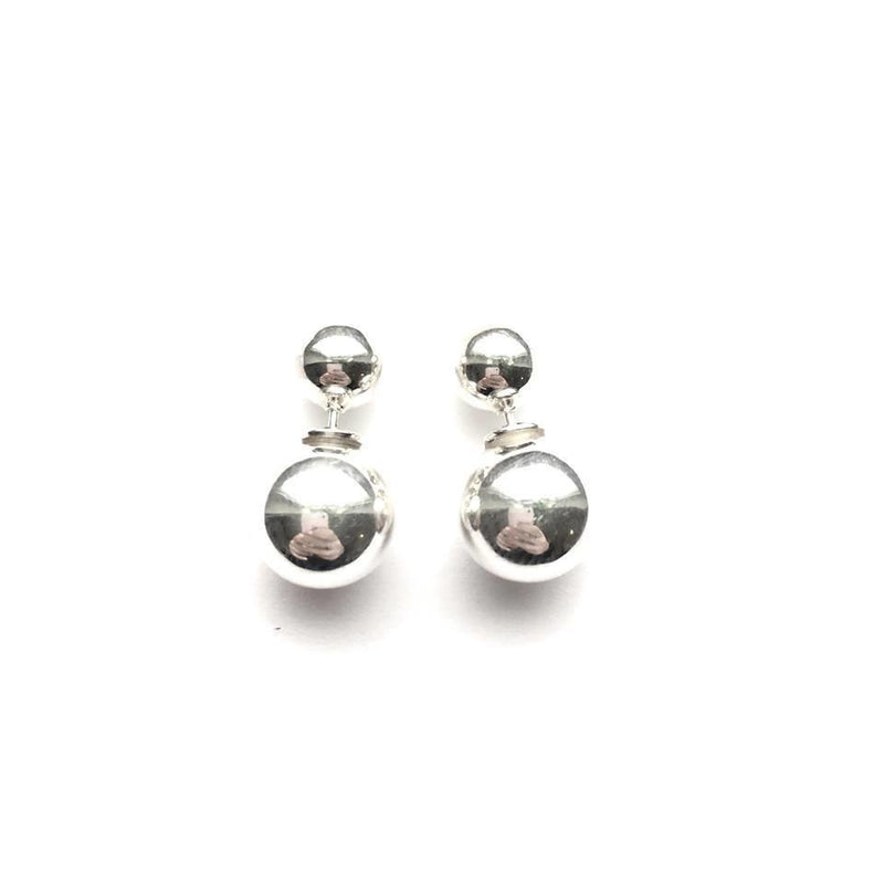 Sterling Silver Ball Ear Jacket Earrings