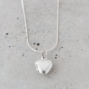 Etched Sterling Silver Heart Locket