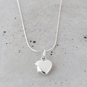 Simple Sterling Silver Heart Locket