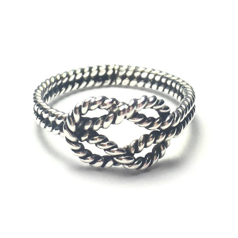 Sterling Silver Double Knotted Band
