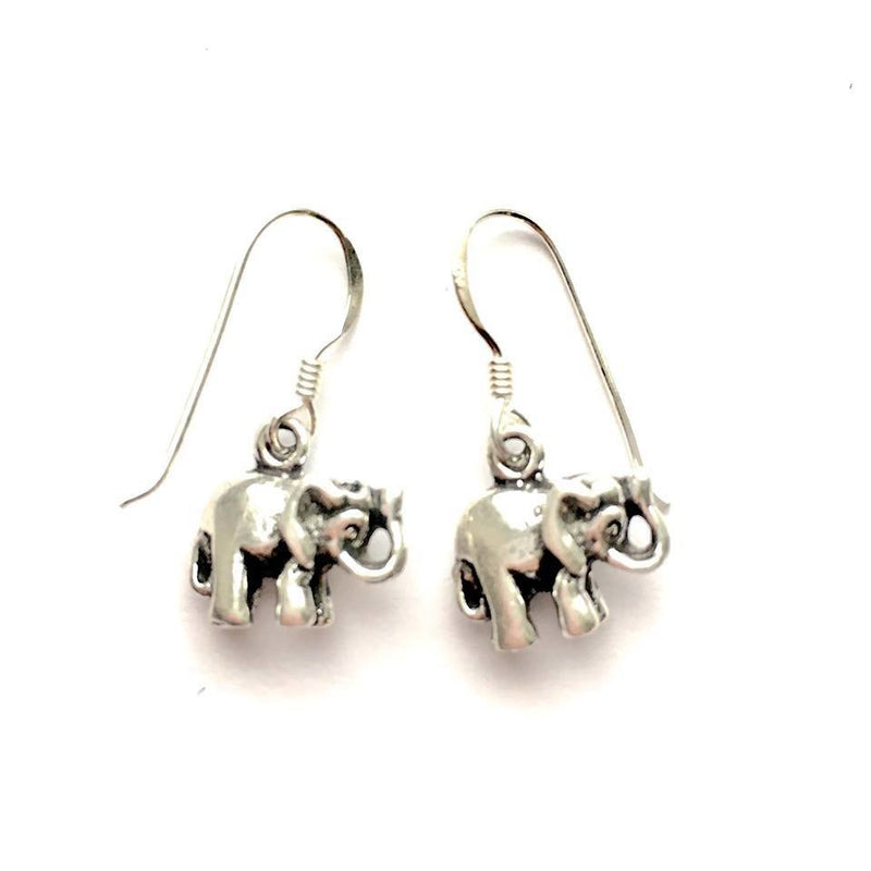 Small Sterling Silver Elephant Earrings