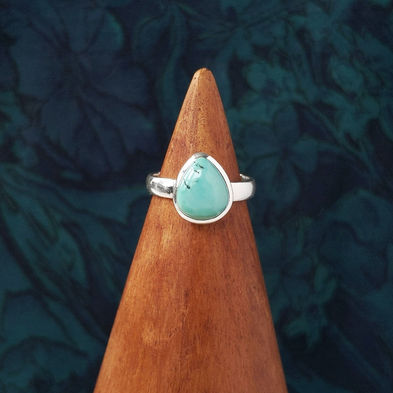 Sterling Silver Teardrop Turquoise Stone Ring