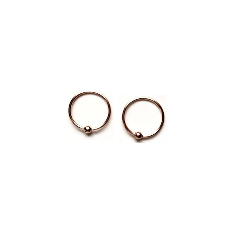 Rose Gold Plated Sterling Silver 10mm Hoops