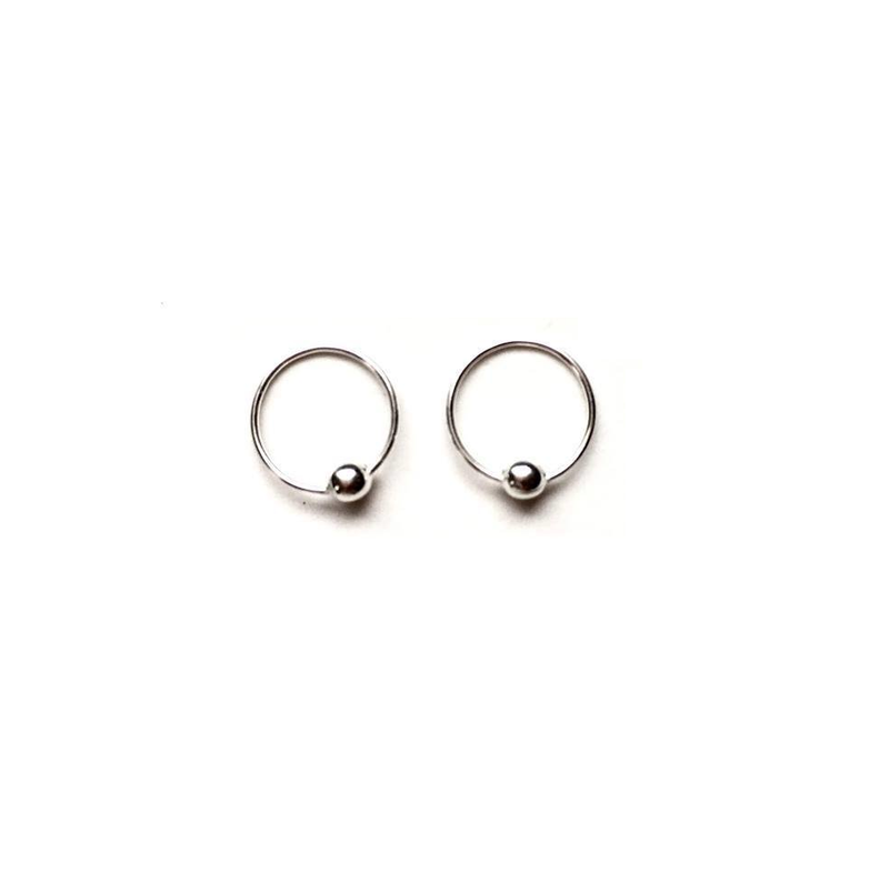 Sterling Silver 8mm Hoops