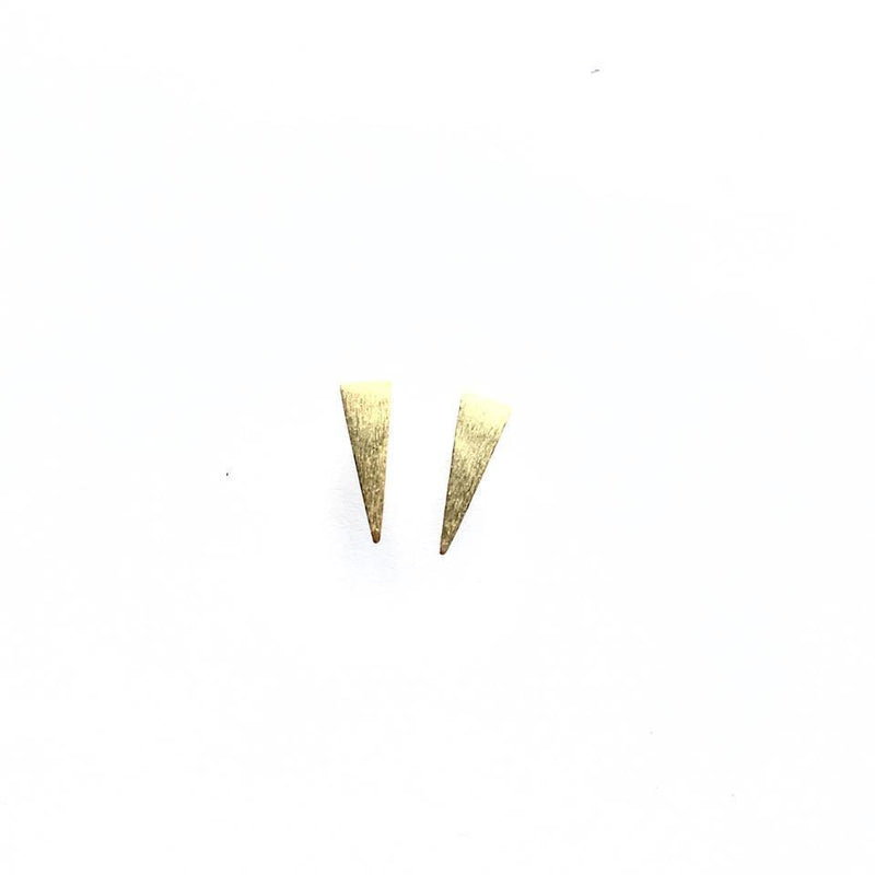 Gold Plated Sterling Silver Spike Studs