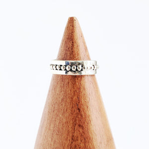 Sterling Silver Dotted Band