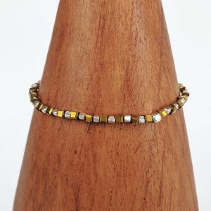 Gold Stretchy Beaded Bracelet