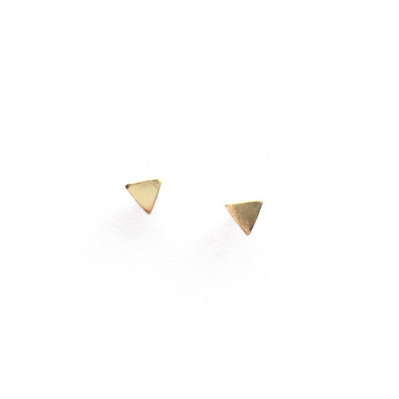 Gold Plated Sterling Silver Triangle Earrings