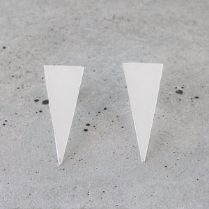 Sterling Silver Upside-down Triangle Studs