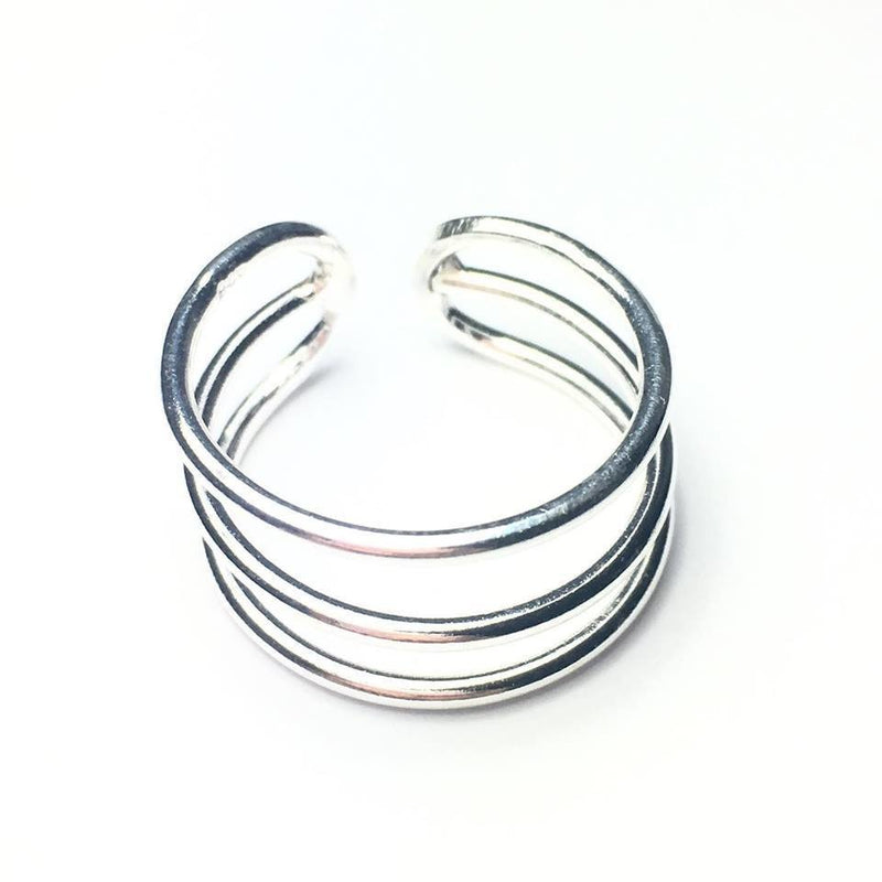 Sterling Silver Triple Band Ring