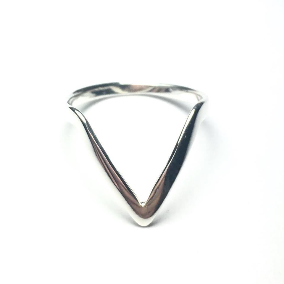 Sterling Silver Pointed Ring