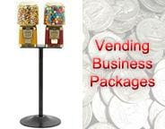 Double All Metal Gumball Machine w/ Stand