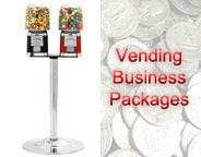 Double Classic Gumball Machine w/ Stand