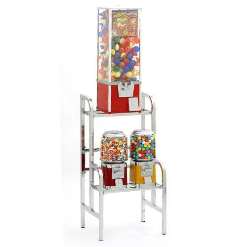 1 Toy Capsule Machine & 2 Classic Machines Combo Rack - Gumball Machine Warehouse