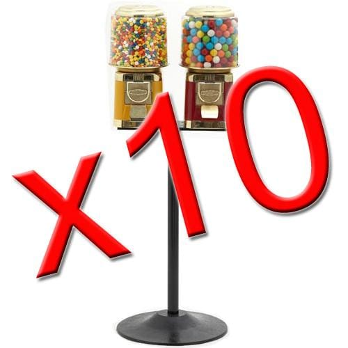 10 Double All Metal Gumball Machines - Gumball Machine Warehouse
