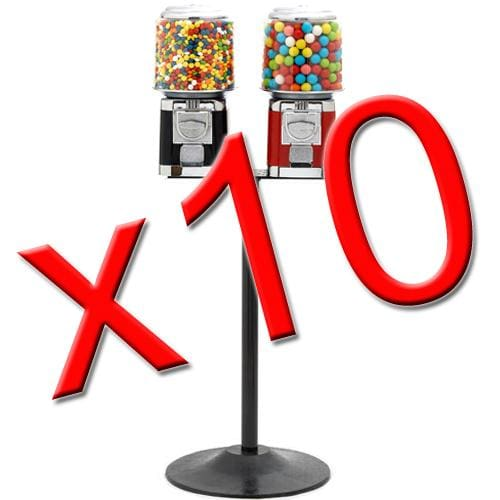 10 Double Classic Gumball Machines - Gumball Machine Warehouse