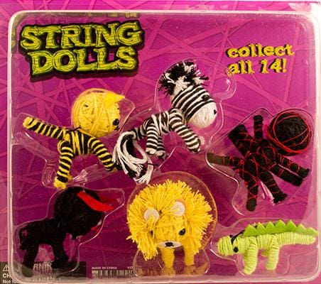 2 Animal String Dolls In 2 Inch Toy Capsules - Gumball Machine Warehouse