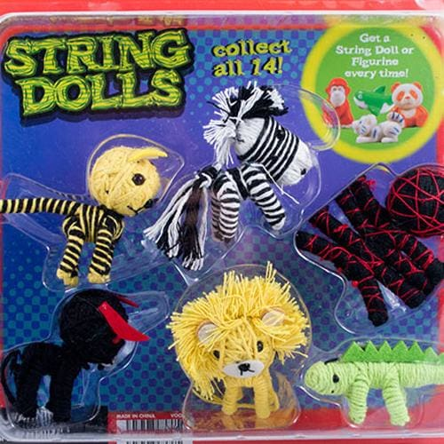2 Animal String Dolls With Minimalz In 2 Inch Capsules - Gumball Machine Warehouse