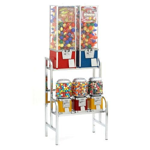 2 Toy Capsule & 3 Classic Machines Combo Rack - Gumball Machine Warehouse
