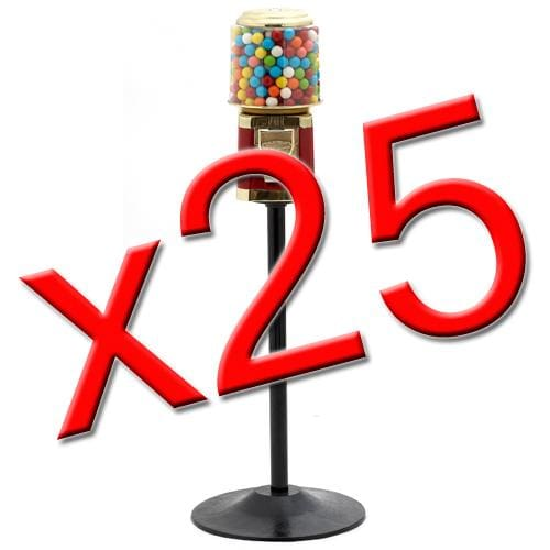 25 All Metal Gumball Machines W/ Stands - Gumball Machine Warehouse